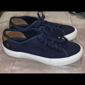 EUC Frye Ludlow Canvas/Leather Sneakers 9.5 Men's
